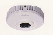 魚眼レンズ搭載のメガピクセルIPカメラ