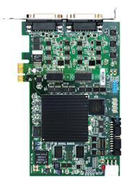 モノクロアナログカメラを4台接続できる画像入力ボード