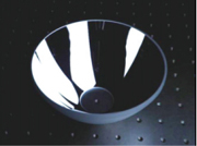 精密な非球面加工により高い集光性能が得らる楕円面ミラー