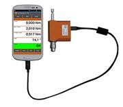 回転・固定・携帯型・インテリジェント・タブレットPC対応/超小型・高精度なデジタルトルクセンサー