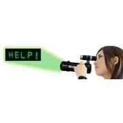 文字メッセージを照射可能なレーザーメッセージプロジェクター