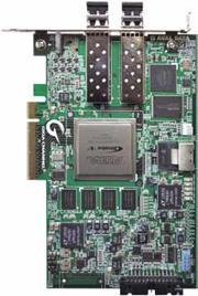 転送速度最大28Gbpsを実現する光通信ボード
