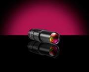 入射光量調整用の可変絞り機構を搭載した変倍テレセントリックレンズ