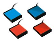 指向角を選べるセンシングバックライト照明に青色・赤色をラインアップ