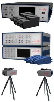 振動の過渡または定常状態の16ポイントまで測定できるレーザドップラー振動計