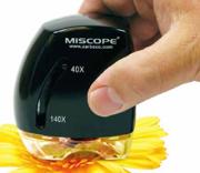 鮮明な拡大映像で手軽に観察できる超小型デジタル顕微鏡