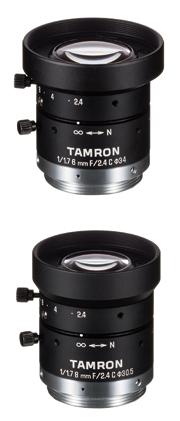 マシンビジョン用単焦点レンズに1/1.7型センサー対応を追加