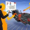 VR空間に浮かぶ3次元CADデータ・CAEの結果を全方位から確認