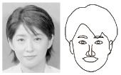 図4 愛知万博2005出展の似顔ロボット絵師 COOPERの作品例(小谷真生子氏)