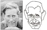 図5 似顔絵コンピューターPICASSOの 作品例