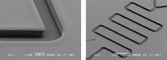 図2 マイクロレンズアレイパターンの形成例